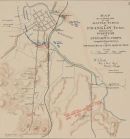 Wilbur Foster's map of the Franklin battlefield